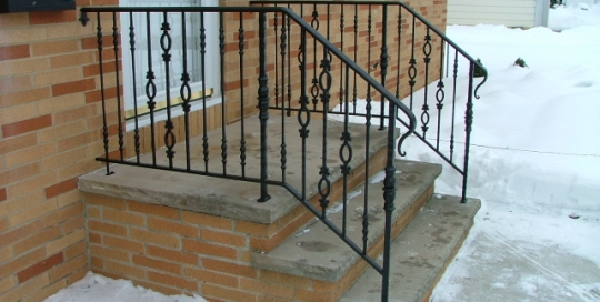 finelli iron custom exterior iron patio entrance stair railing in cleveland ohio