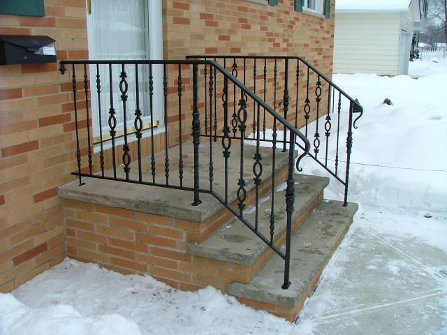 Side Door Railing & Side Door Railing - Finelli Ironworks