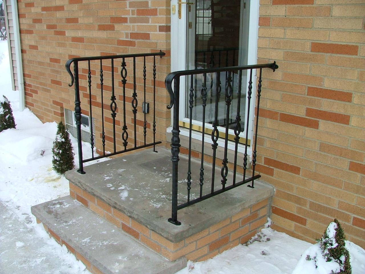 front door railing house for sale front door and stair railing finelli ironworks front door