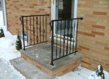 finelli iron works handmade custom iron front door step railing in akron ohio