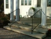 finelli iron custom front door iron step railing in hudson ohio