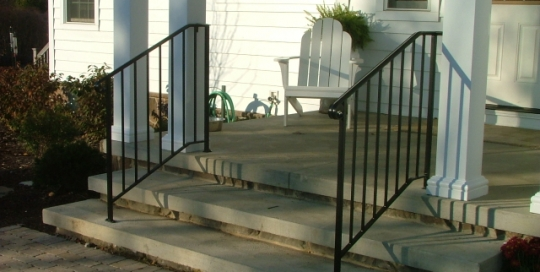 finelli iron custom front door iron step railing in hudson ohio