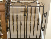 Finelli architectural iron and stairs custom iron security staircase gate in columbus ohio