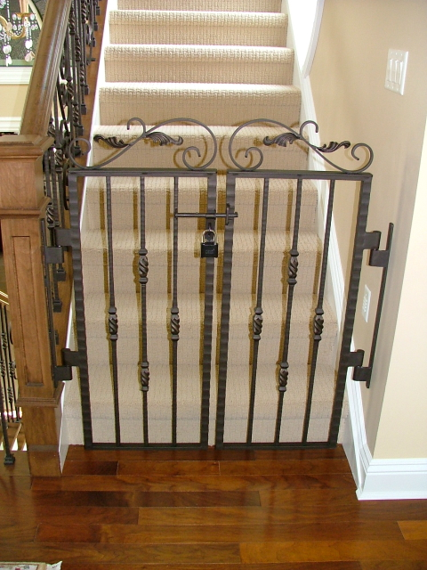 Distressed Staircase Gate