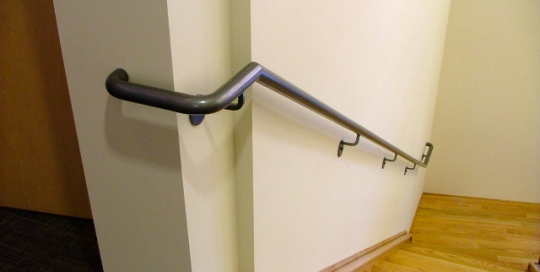 Finelli architectural iron and stairs custom iron tube hand-railing in chagrin falls ohio