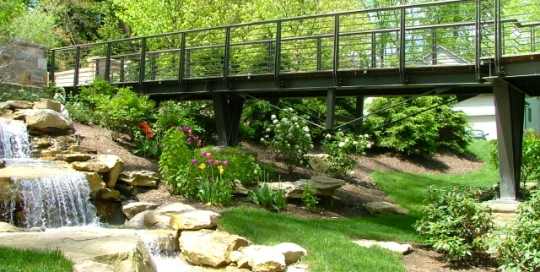 finelli architectural iron and stairs handmade contemporary steel bridge railing in hunting valley ohio