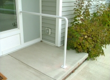 finelli iron custom contemporary design custom front door step railing in avon ohio