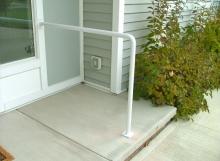 finelli iron custom contemporary design custom front door step railing in avon ohio