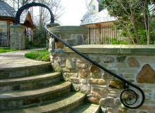 finelli architectural iron and stairs custom handmade exterior iron wall railing in hunting valley ohio