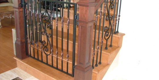 Finelli architectural iron and stairs custom iron staircase gate handmade in columbus ohio
