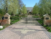 Finelli Architectural Iron and Stairs custom wrought iron driveway gate in lakewood ohio