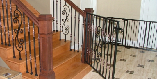 Finelli architectural iron and stairs custom interior iron staircase gate in columbus ohio