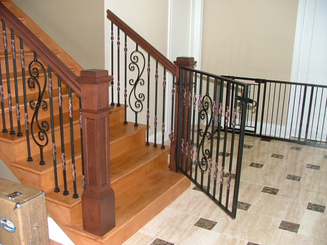 Finelli Architectural Iron And Stairs Custom Interior Staircase Gate In Columbus Ohio