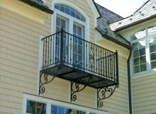 finelli ironworks custom wrought iron exterior balcony railing in scrollwork in avon ohio