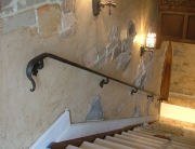 Finelli architectural iron and stairs custom elegant interior handrail in hunting valley ohio
