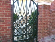 finelli iron works custom handmade wrought iron man gate in atlanta georgia