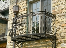 finelli architectural iron and stairs custom unique handmade wrought iron master bedroom second floor balcony in pepper pike ohio