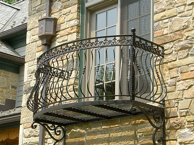 Exterior balconies finelli ironworks for What is a french balcony
