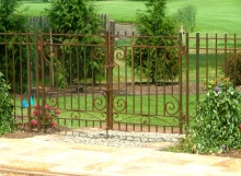 finelli iron and stairs custom exterior rustic iron pool gate in westlake ohio