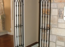 Finelli architectural iron and stairs custom hand forged wine cellar door in columbus ohio