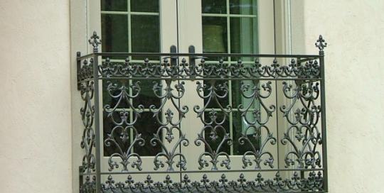 finelli ironworks custom exterior iron master bedroom balcony in hudson ohio