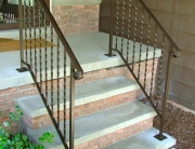 finelli architectural iron and stairs custom front porch staircase railing in akron ohio