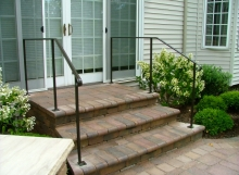 finelli iron custom handmade wrought iron front patio iron staircase railing in shaker ohio