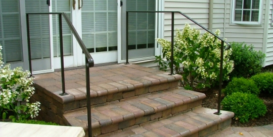 finelli iron custom handmade wrought iron front patio iron staircase railing in shaker ohio