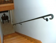 Finelli architectural iron and stairs custom natural iron staircase wall railing in columbus ohio