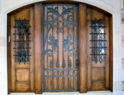finelli ironworks custom handmade decorative iron door grille in columbus ohio