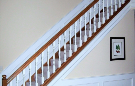 wood staircase remodel