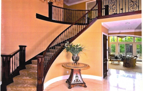 iron stair case remodel