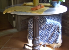 finelli iron custom handmade rustic table base in columbus ohio