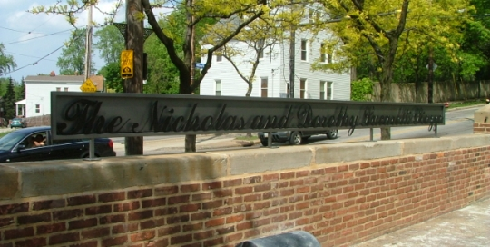 Finelli Architectural Iron and Stairs custom wrought iron memorial sign in cleveland ohio