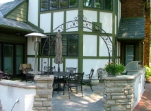 finelli iron and stairs custom exterior garden entrance arch in columbus ohio