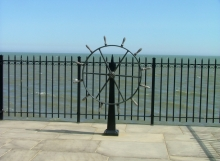 Finelli Architectural Iron and Stairs custom wrought iron patio safety fence and iron boat wheel in rocky river ohio