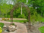 Finelli architectural iron and stairs custom unique forged garden arbor in chagrin falls ohio