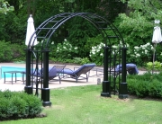 finelli iron custom exterior wrought iron pool entrance arbor in columbus ohio
