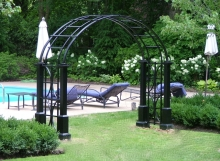 finelli iron custom exterior wrought iron pool entrance arbor in columbus ohio