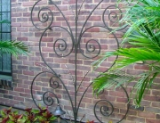finelli iron works custom scrollwork wall shrub decor in columbus ohio