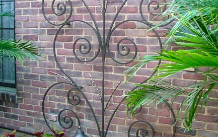 finelli iron works custom scrollwork wall shrub decor in columbus ohio