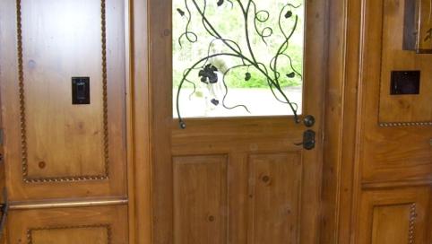 finelli iron works custom handmade forged steel and iron door/window grille in columbus ohio