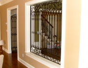 finelli architectural iron and stairs custom ornamental elegant room divider in waite hill ohio