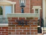 finelli iron works custom handmade address design sign in columbus ohio