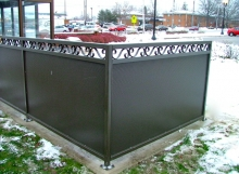 finelli architectural iron and stairs custom commercial security fence in avon lake ohio