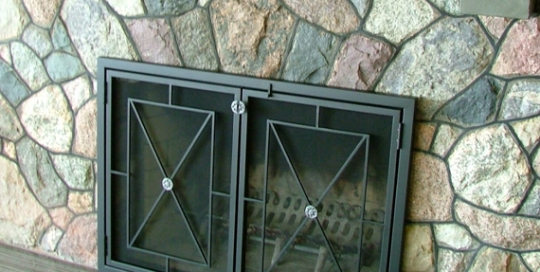 finelli iron and stairs custom handmade modern design fireplace screen and doors in columbus ohio