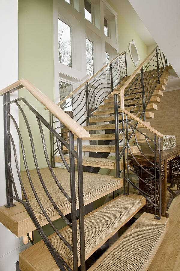 Iron And Ipe Exterior Staircase Finelli Ironworks