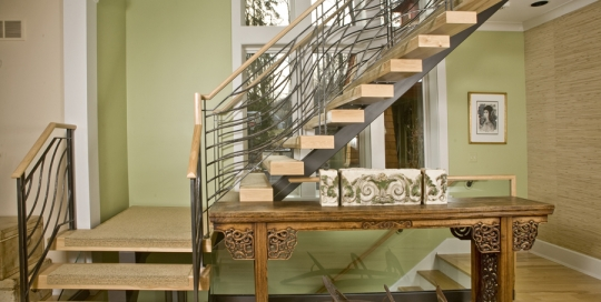 Modern Iron and Wood staircase