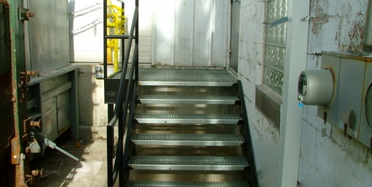 finelli ironworks custom handmade structural steel commercial staircase in toledo ohio