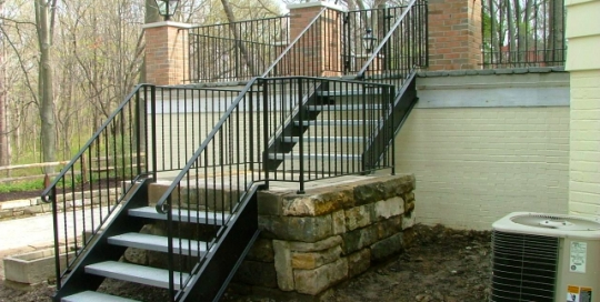finelli architectural iron and stairs custom handmade structural exterior steel staircase in avon lake ohio